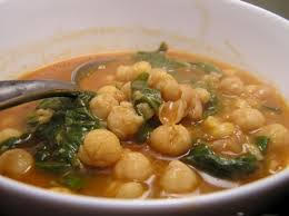 Chick pea spinach stew