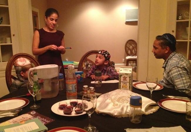 Singh family Shabbat