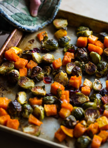 roasted-brussels-sprouts-and-squash-with-dried-cranberries-and-dijon-vinaigrette-4
