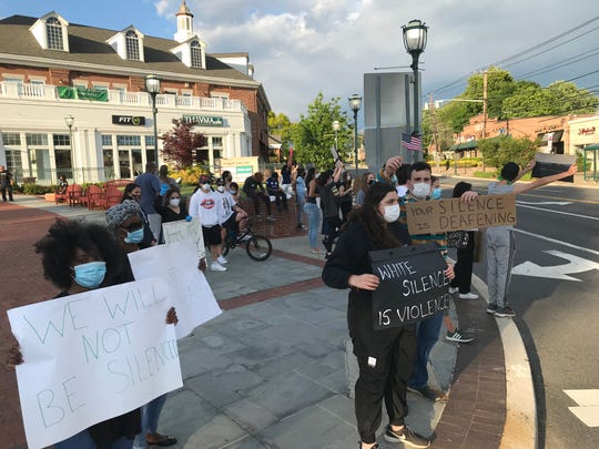 Protest in Livingston; photo courtesy of northjersey.com